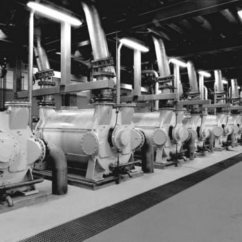 Жидкость кольцо вакуумный насос в бумагоделательной машине